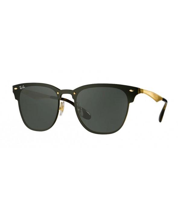 bfaa694a84e0c Ray Ban Blaze Clubmaster Gold Green Classic Sunglasses