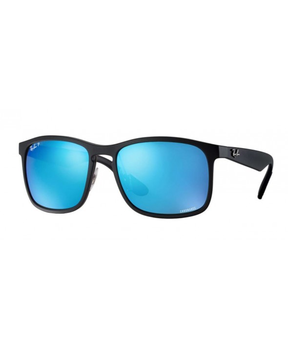 11b20e7c67 Ray Ban Rb4264 Chromance Black Blue Mirror Polarized Sunglasses