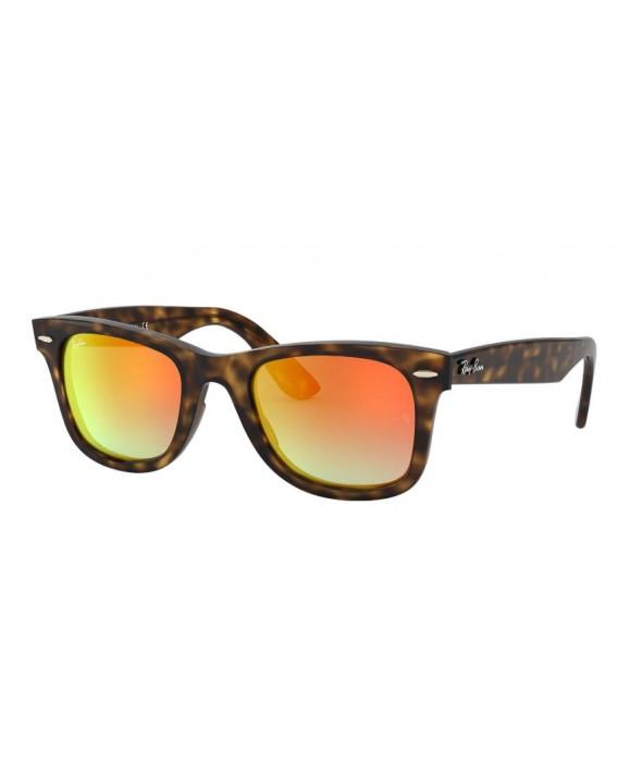5b710ba1b5c6 Ray Ban Wayfarer Ease Tortoise Orange Gradient Flash Sunglasses