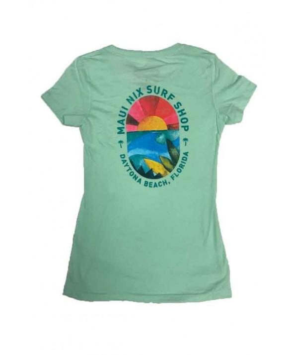 Maui Nix Women's GEO SUNRISE SHORT SLEEVE TEE