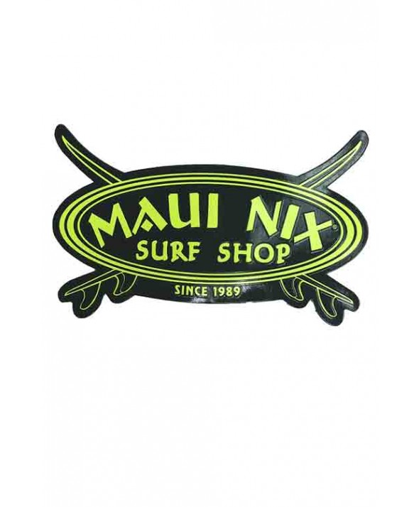 Maui Nix Classic Crossed Boards Logo Magnet