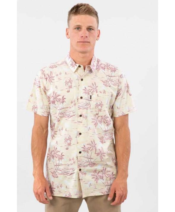 Rip Curl Men's Island Fever Short Sleeve Shirt