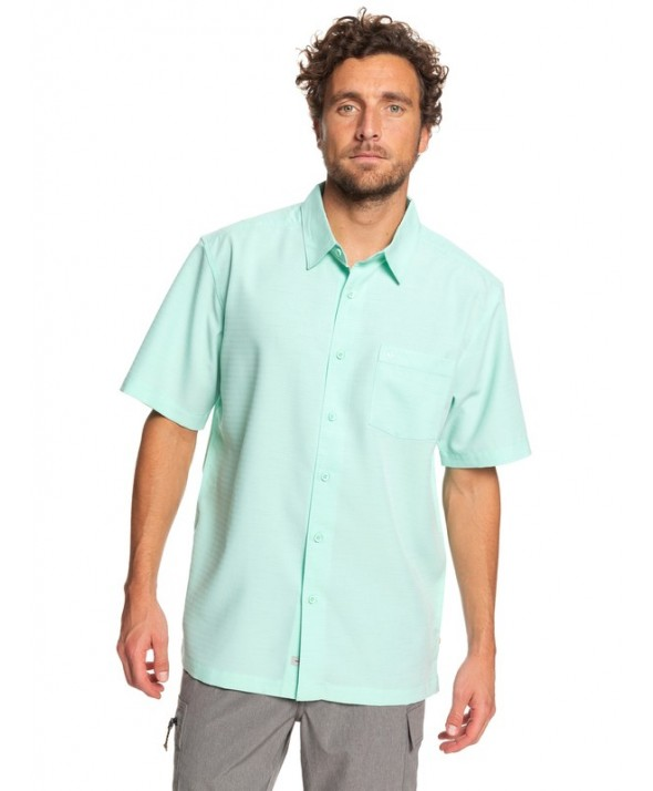 Quiksilver Men's Waterman Centinela 4 Short Sleeve Shirt