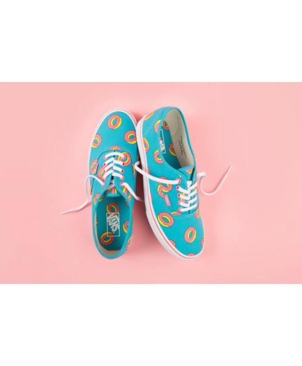 6188df42650d Vans Odd Future Authentic Limited Edition Scuba Blue Donut Shoe