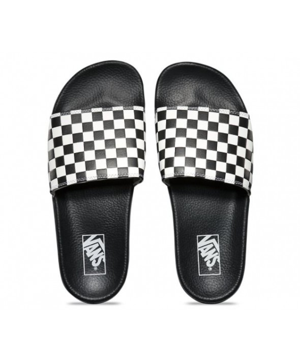 6499b758a77 ... Vans Men s Slide-On Checkerboard Sandals. CHEX WHT