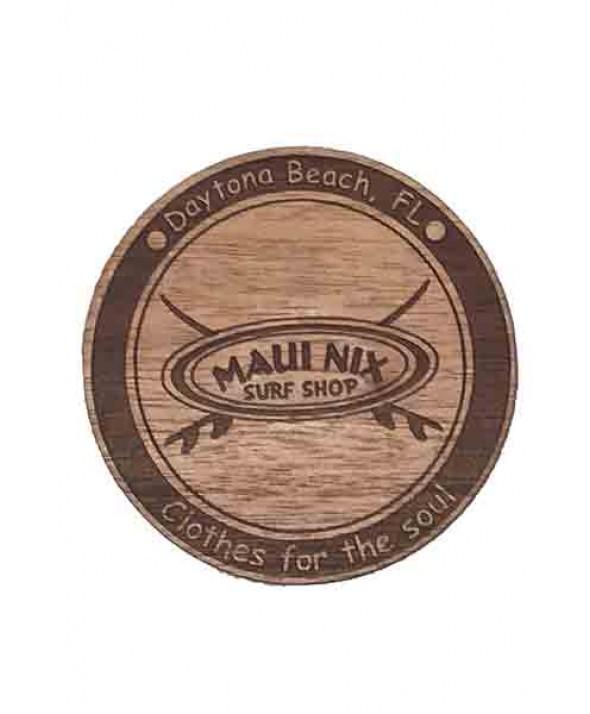 Maui Nix Wood Crossed Boards Magnet