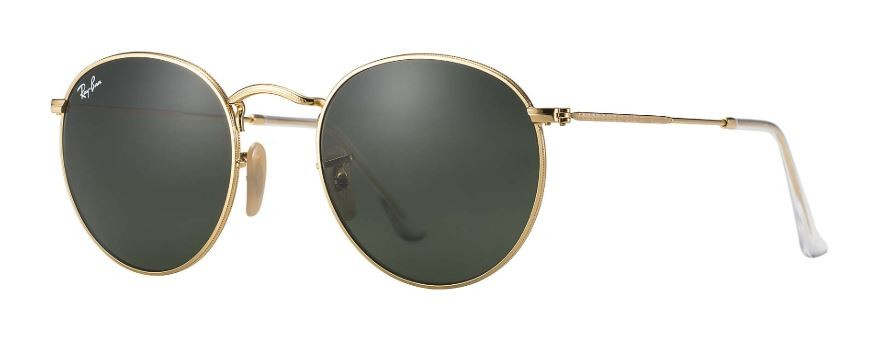 7a4ce8c249c Ray Ban Round Metal Gold Green Classic G-15 Sunglasses