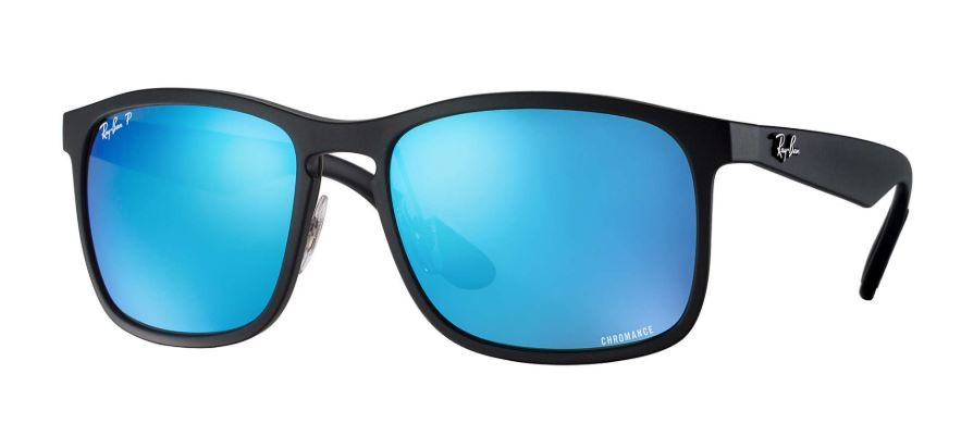 d4d5a5c76 Ray Ban Rb4264 Chromance Black Blue Mirror Polarized Sunglasses