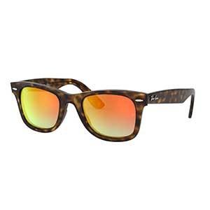 cfd68fd084 Ray Ban Wayfarer Ease Tortoise Orange Gradient Flash Sunglasses
