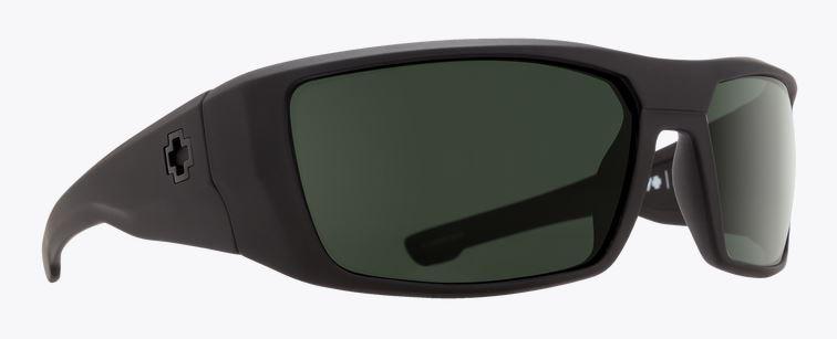866b673355e Spy Dirk Soft Matte Black Happy Gray Green Polarized Sunglasses