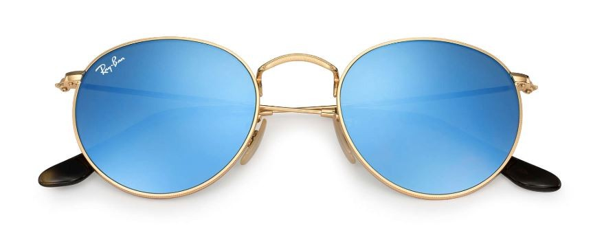 ae9e67bff3d Ray Ban Round Flat Gold