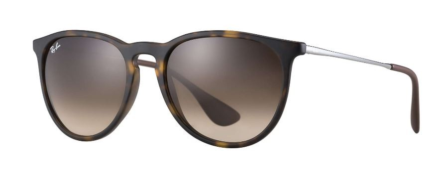 29e8fedc3612b Ray Ban Erika Classic Tortoise Gunmetal, Brown Gradient Sunglasses