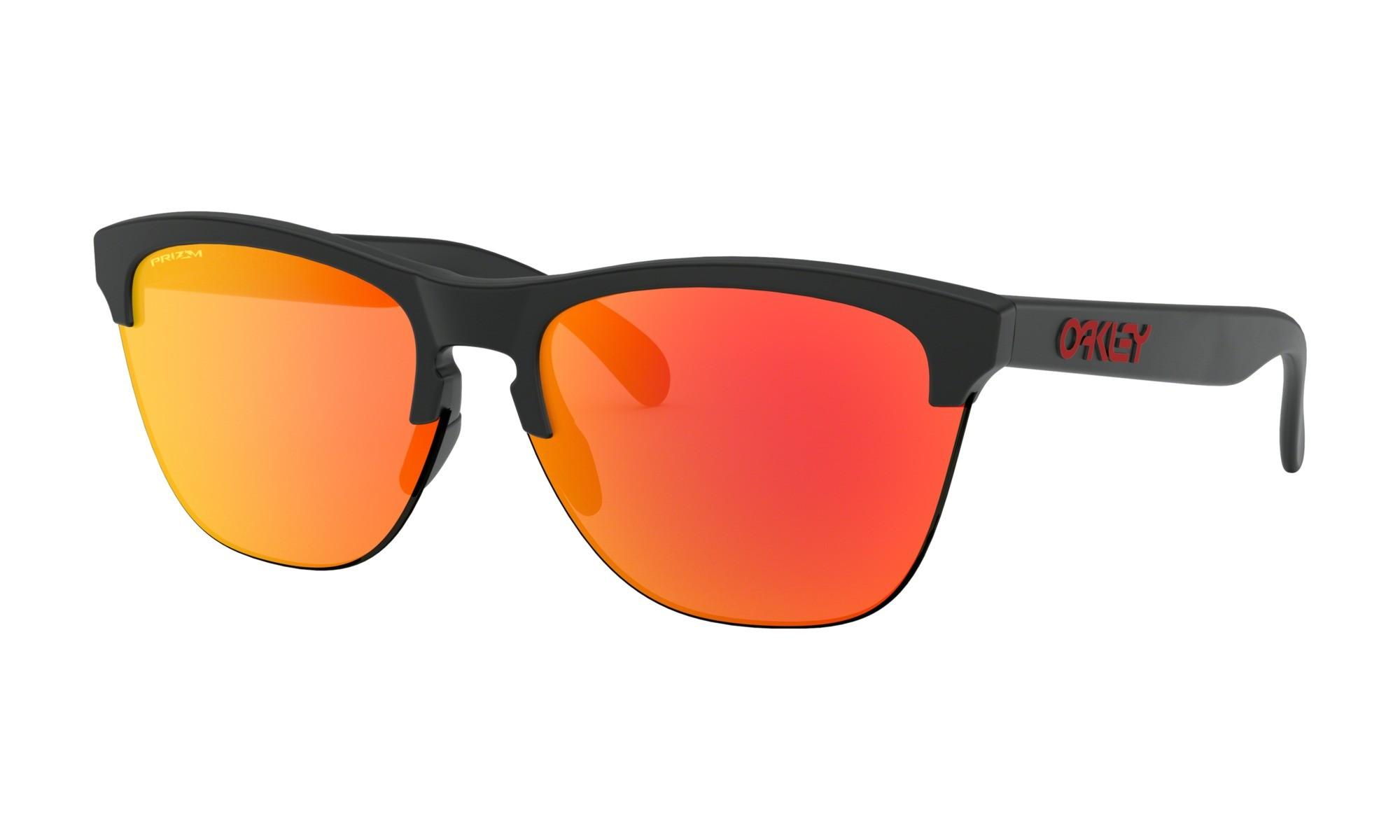 ad8d3454f3 Oakley Frogskins Lite Matte Black Prizm Ruby Sunglasses