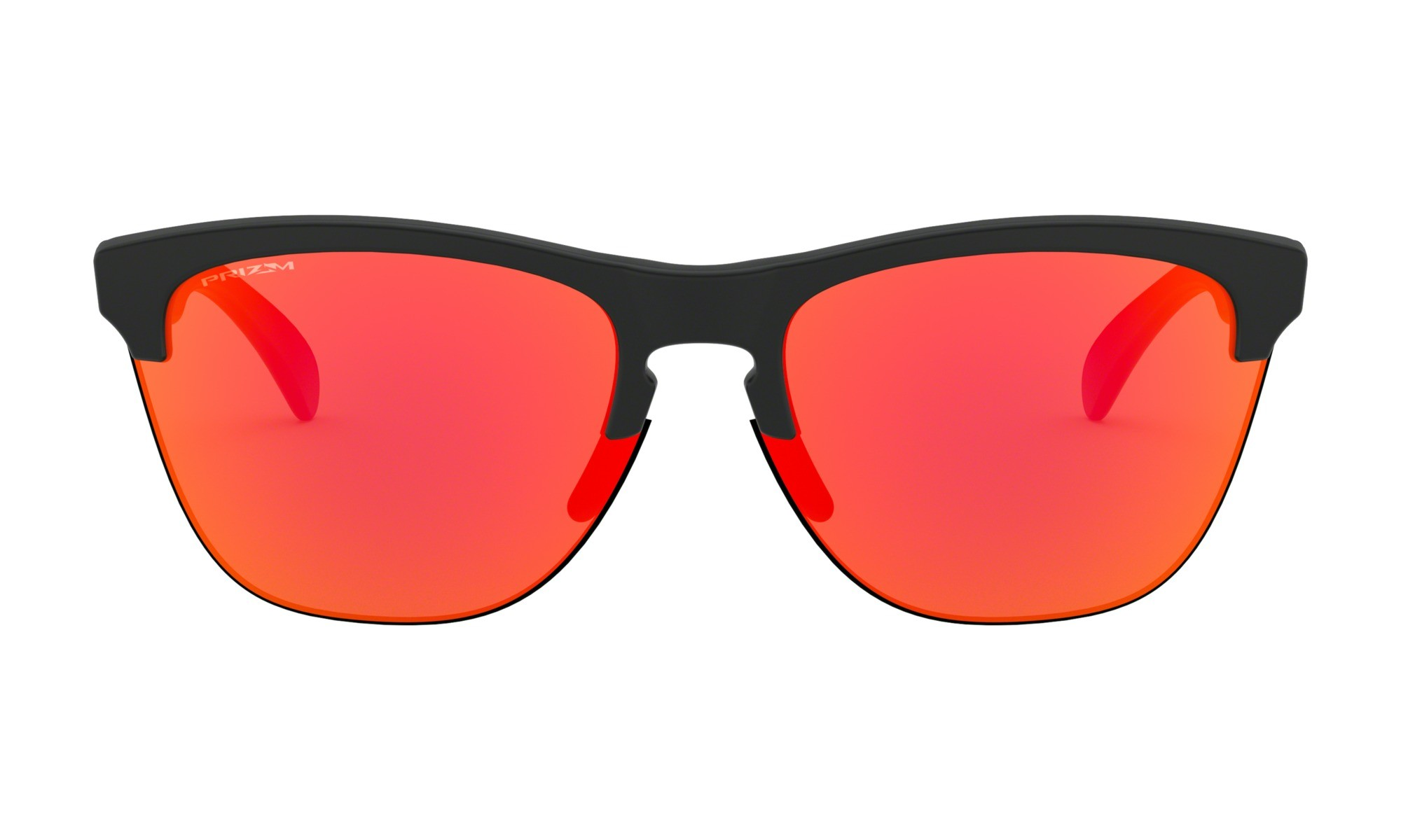 ed4725ddc98 Oakley Frogskins Lite Matte Black Prizm Ruby Sunglasses