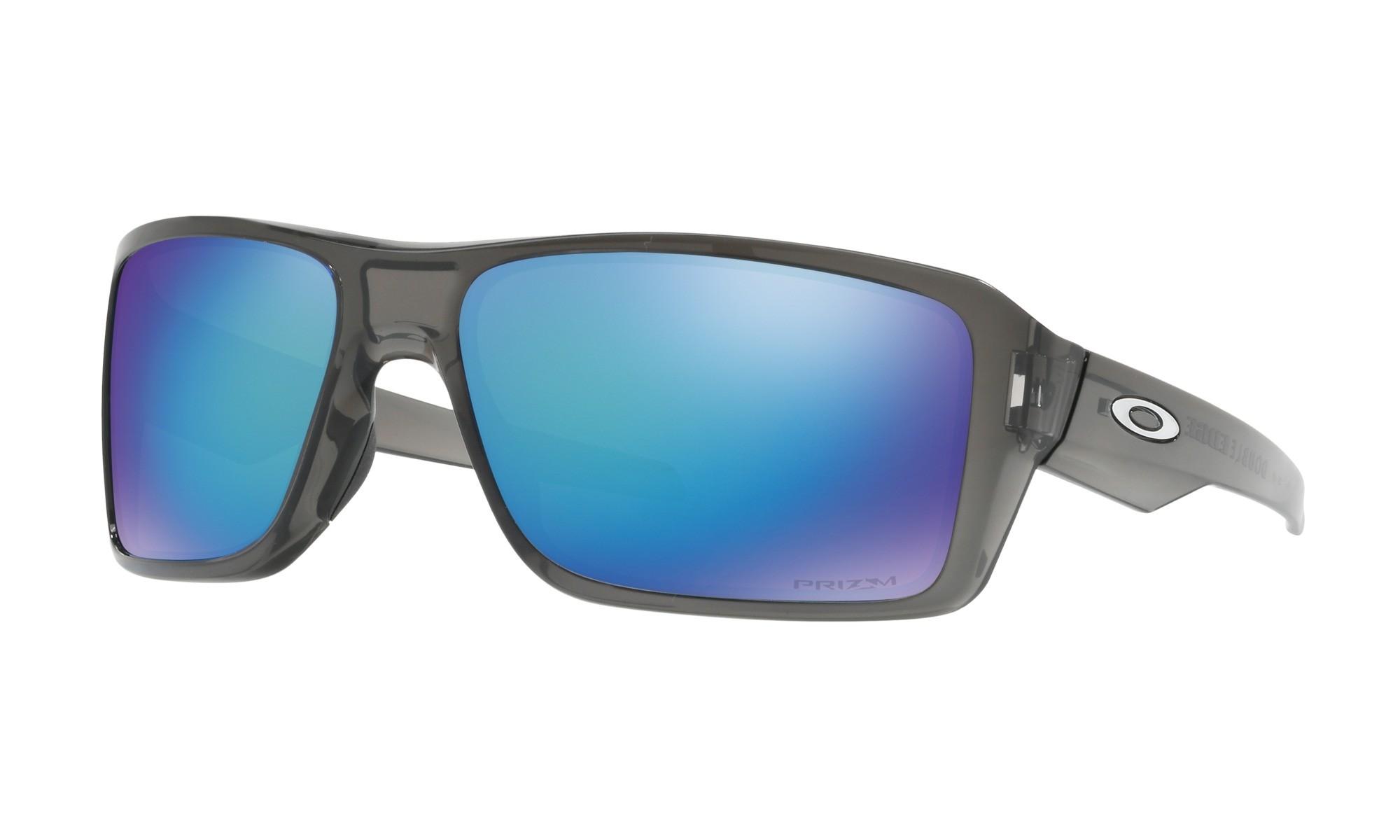 87c73681a1 Oakley Double Edge Gray Smoke Prizm Sapphire Polarized Sunglasses