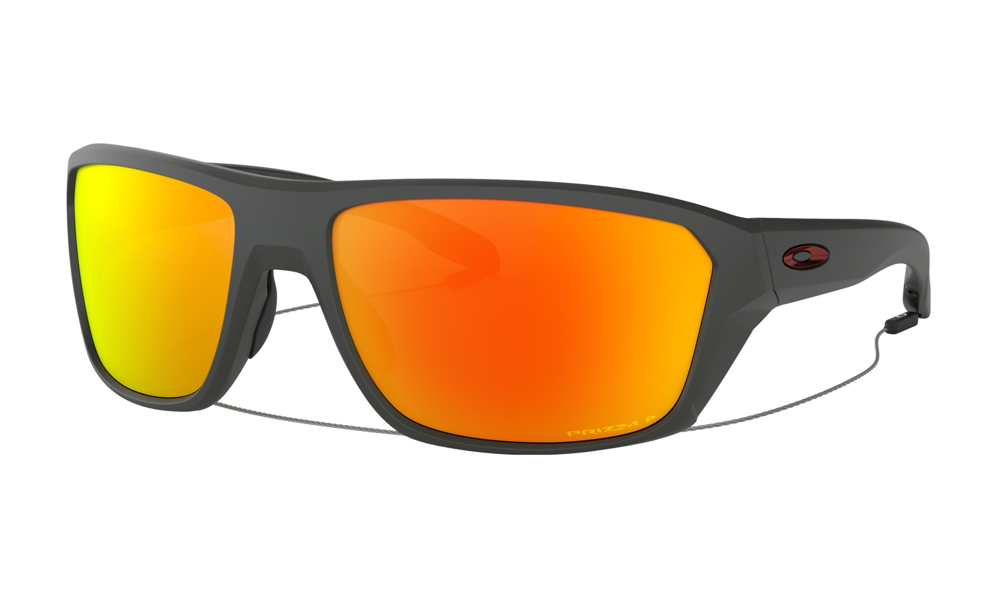 1a3311716b Oakley Split Shot Matte Heather Grey Prizm Ruby Polarized Sunglasses