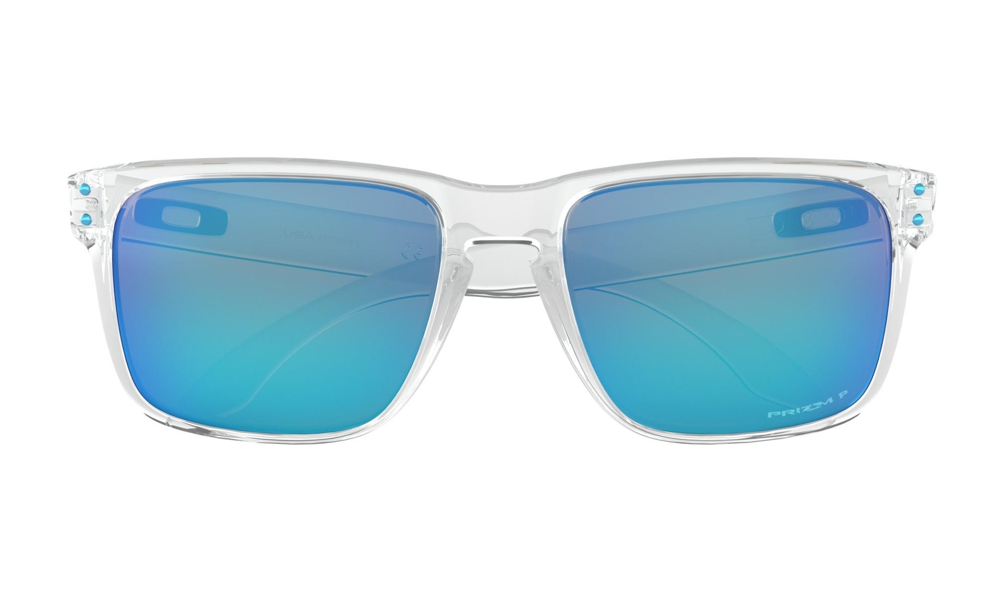 e02cd240141f9 Oakley Holbrook XL Polished Clear Prizm Sapphire Polarized Sunglasses