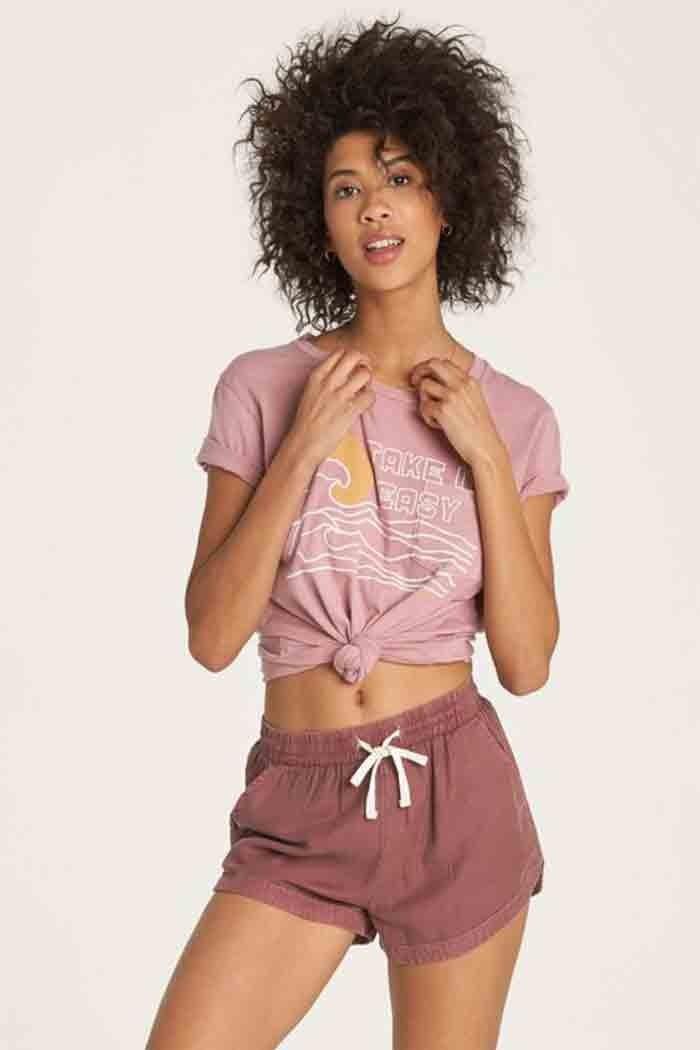 Billabong Road Trippin Women/'s Walk Shorts New Chestnut