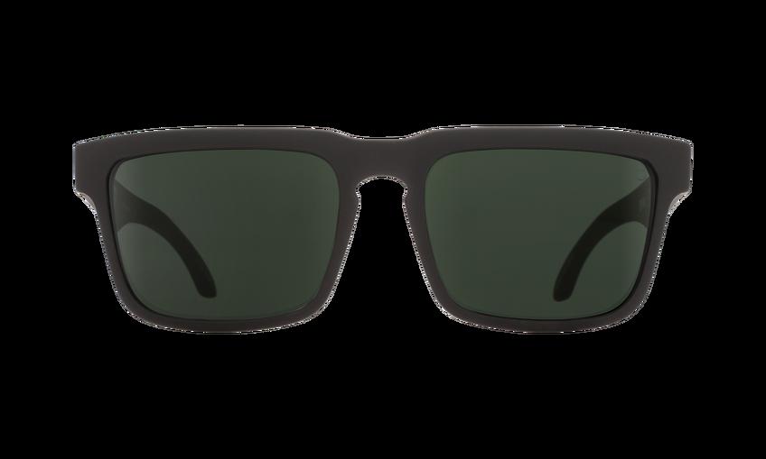 470a38463f Spy Helm Soft Matte Black Happy Polarized Lens Sunglasses