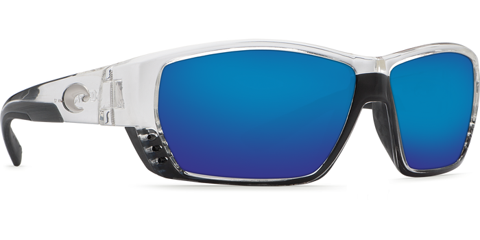 67096e15a71 Costa Del Mar Tuna Alley Shiny Crystal Blue Mirror 580G Polarized Sunglasses