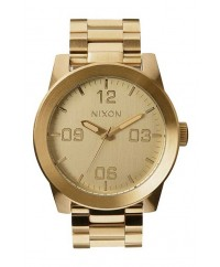Nixon Corporal Stainless Steel All Gold 48mm Watch