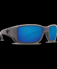 Costa Del Mar Blackfin Matte Gray/Blue Mirror 580G Sunglasses