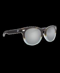 Costa Del Mar Del Mar Matte Tide Pool/Gray Silver Mirror 580G Sunglasses