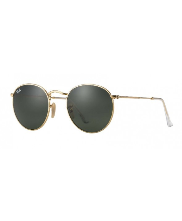 Ray Ban Round Metal Gold Green Classic G-15 Sunglasses