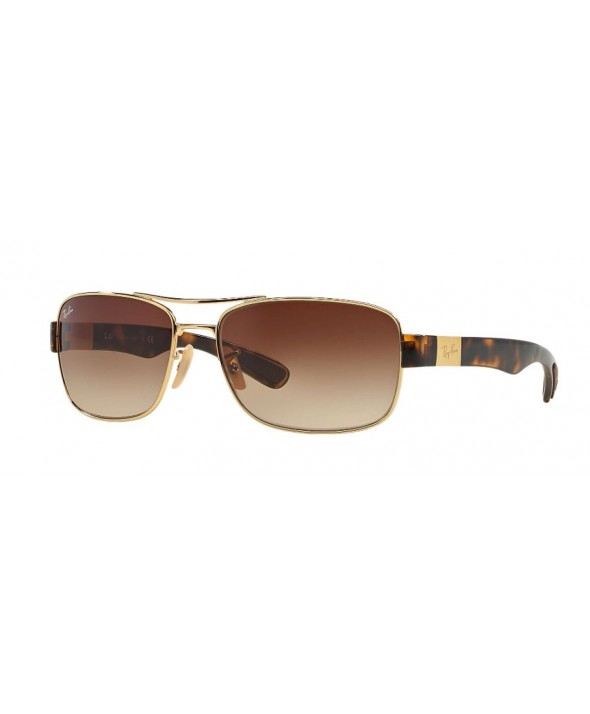 Ray Ban RB3522 Gold Tortoise, Brown Gradient Sunglasses