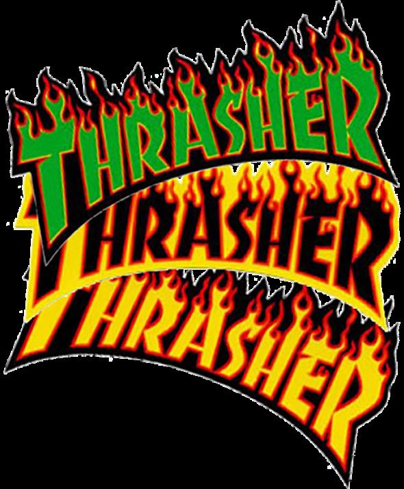 THRASHER FLAME LOGO LG DECAL single asst.colors</a>