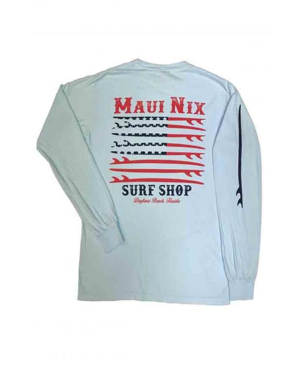 Maui Nix Patriotic Surf Long Sleeve Tee</a>