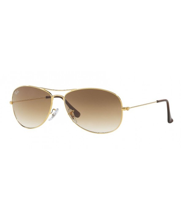 Ray Ban Cockpit Gold Light Brown Gradient Sunglasses