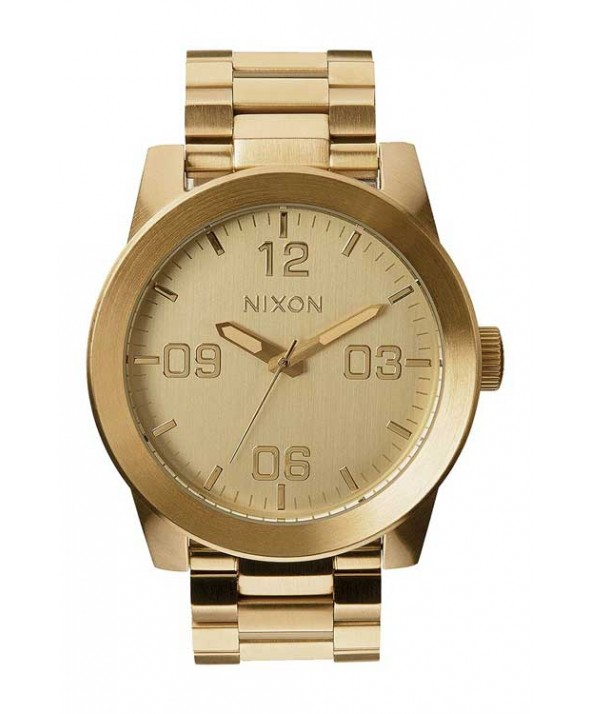 Nixon Corporal Stainless Steel All Gold 48mm Watch</a>