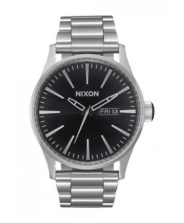 Nixon 42 mm Sentry Stainless Steel Watch Black/Sunray</a>