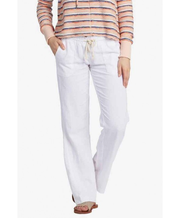 Roxy Women's Oceanside Flared Linen Pants-FALL</a>