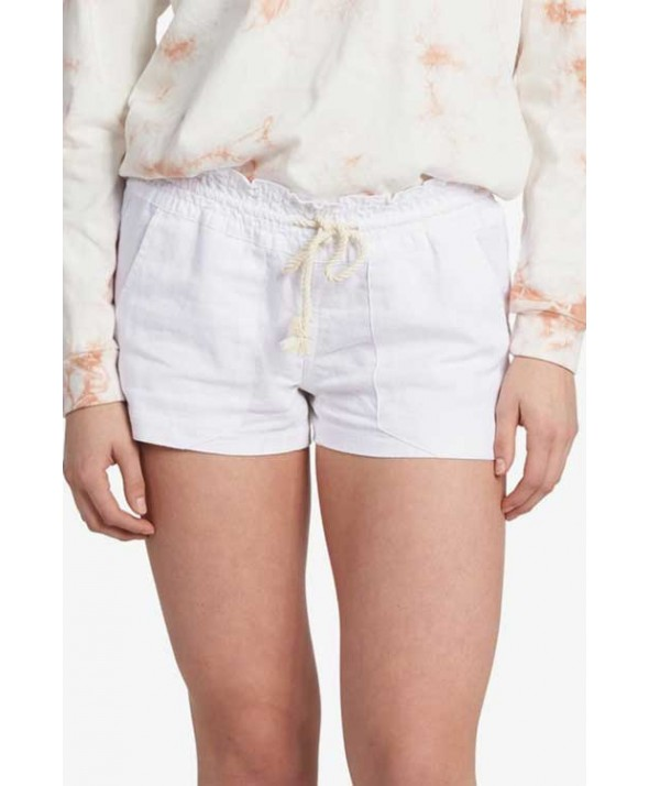Roxy Women's Oceanside Linen Shorts</a>