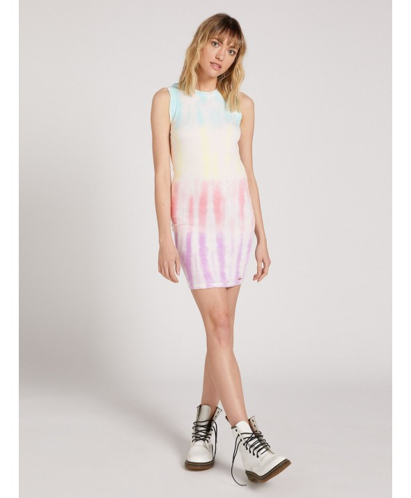 Volcom Women's SURE BURT TIE DYE MINI DRESS</a>