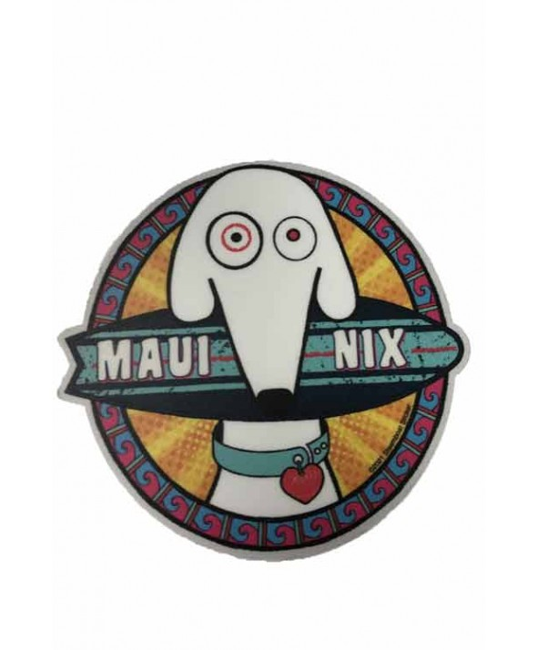 Maui Nix Board Dog Sticker