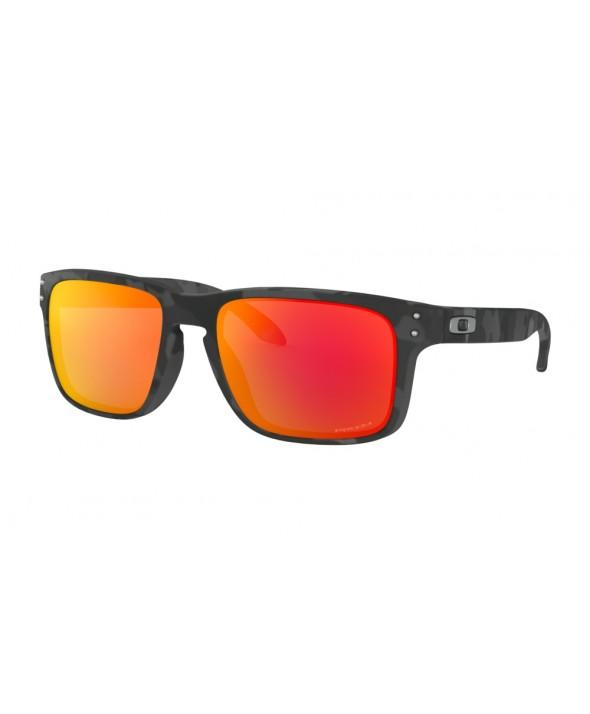 Oakley Holbrook Black Camo Prizm Ruby Sunglasses</a>
