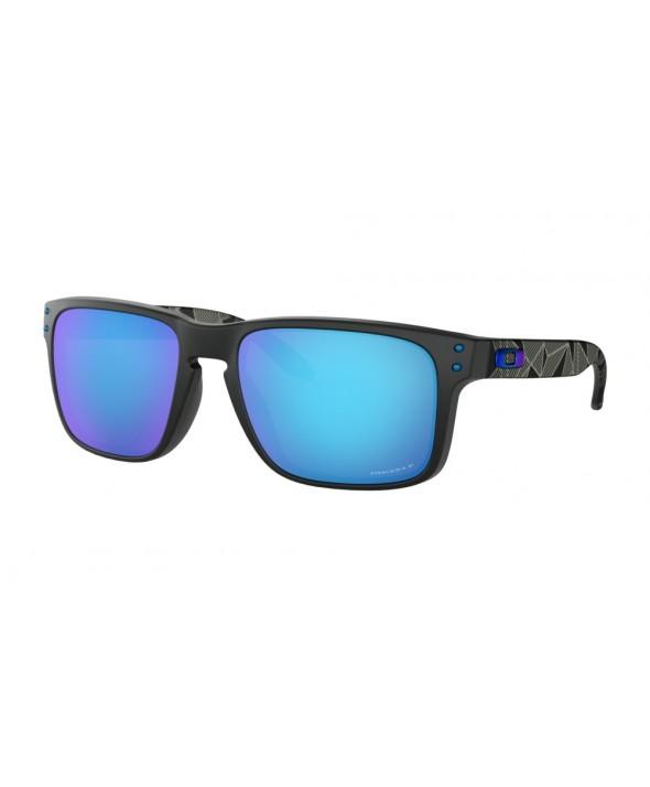 Oakley Holbrook Matte Black And Sapphire Polarized Sunglasses</a>