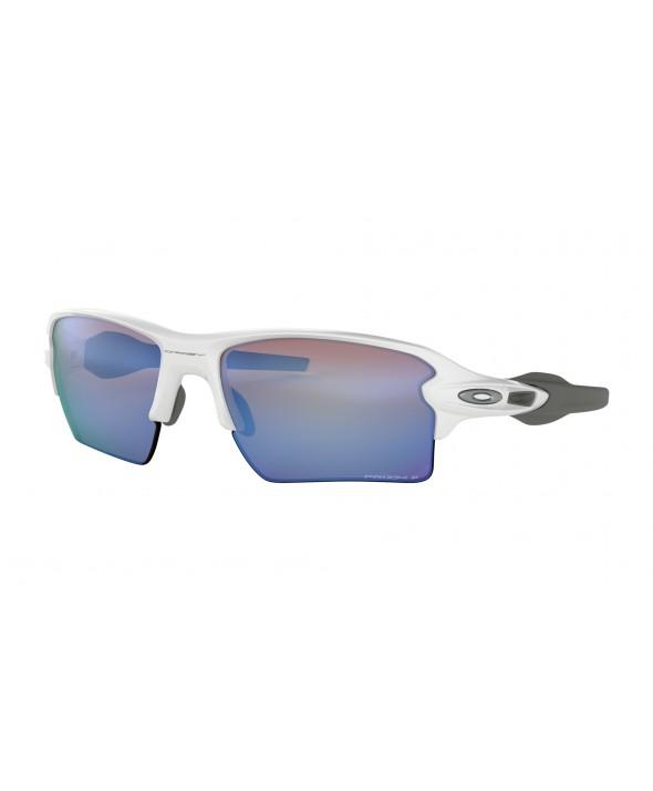 Oakley Flak 2.0 XL Polished White Prizm Deep Water Polarized Sunglasses</a>