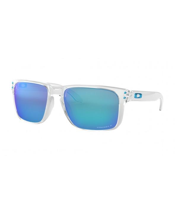Oakley Holbrook XL Polished Clear Prizm Sapphire Polarized Sunglasses</a>