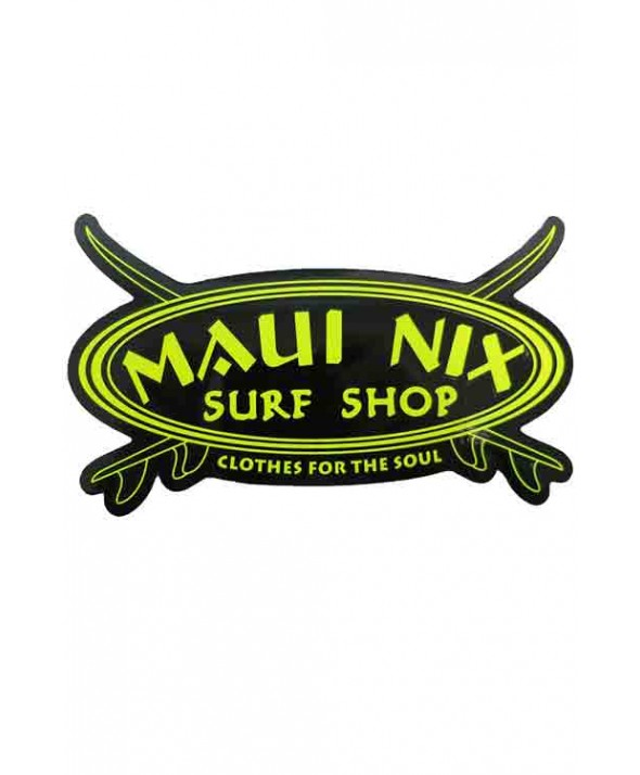 MAUI NIX NEON CROSS BOARD STICKER