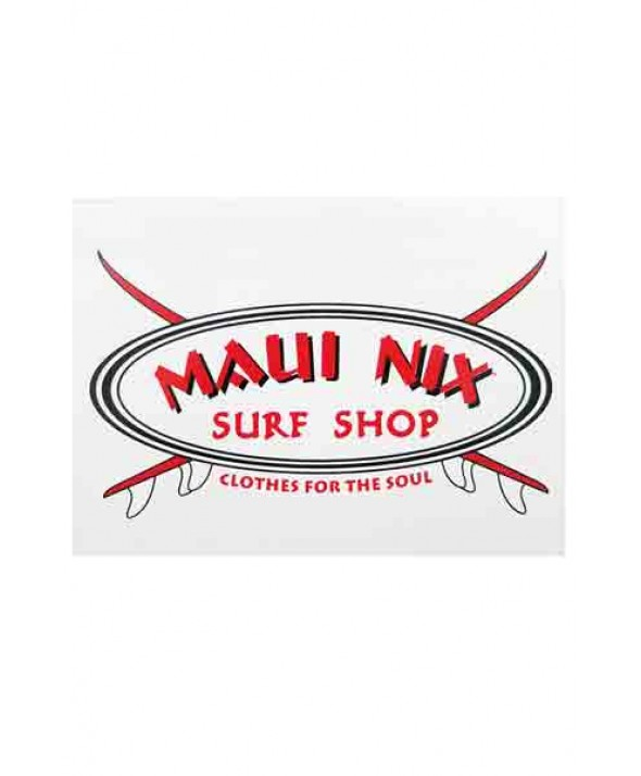 MAUI NIX BASIC OVAL BOARD STICKER
