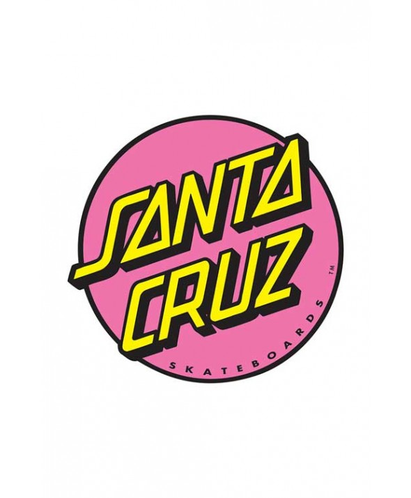Santa Cruz Other Dot 3 Inch Sticker (Turquoise/Pink)