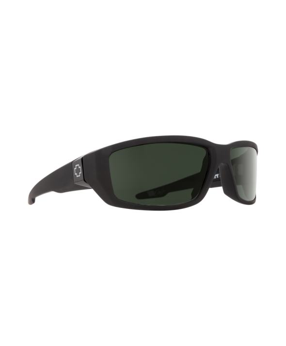 Spy Dirty Mo Soft Matte Black Happy Polarized Lens Sunglasses</a>