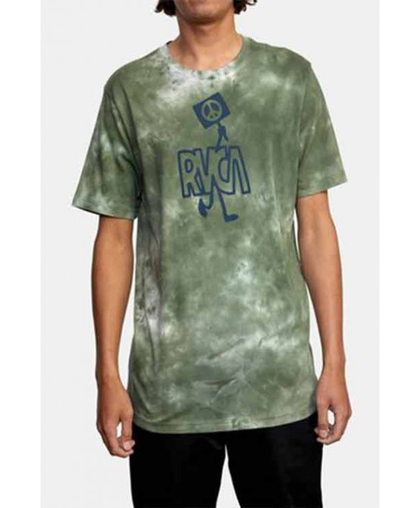 RVCA MEN'S PEACE OUT SHORT SLEEVE TEE