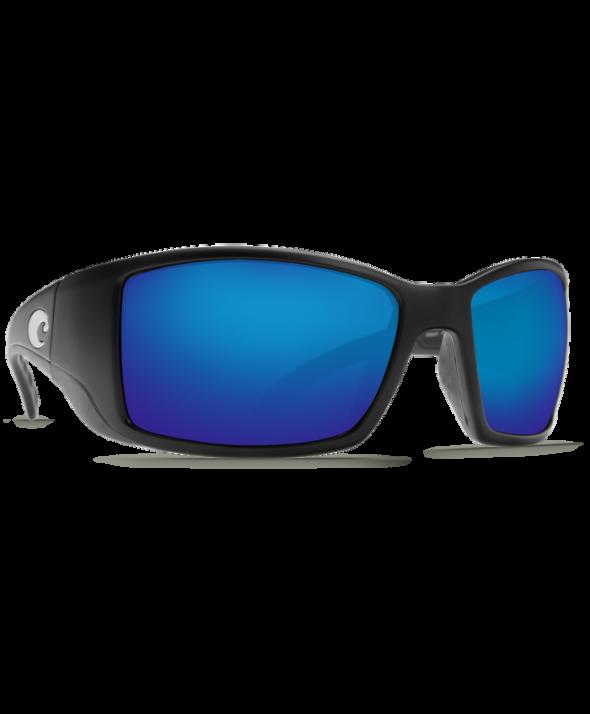 Costa Del Mar Blackfin Matte Black/Blue Mirror 580G Sunglasses
