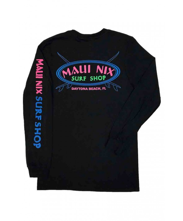Maui Nix Neon Cross 100% Long Sleeve Tee