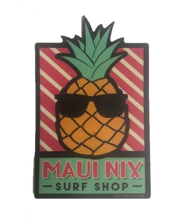 Maui Nix Cool Pineapple Sticker